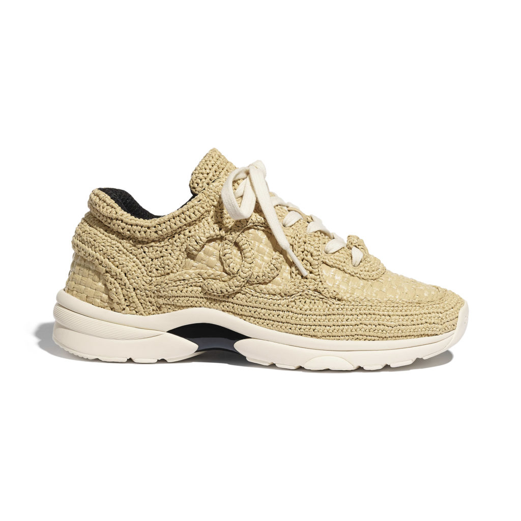 trainers braided raffia blue & beige