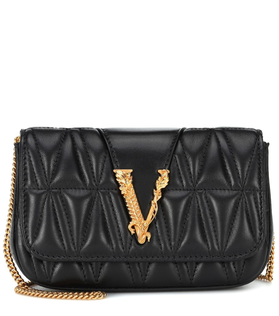 versace quilted evening bag