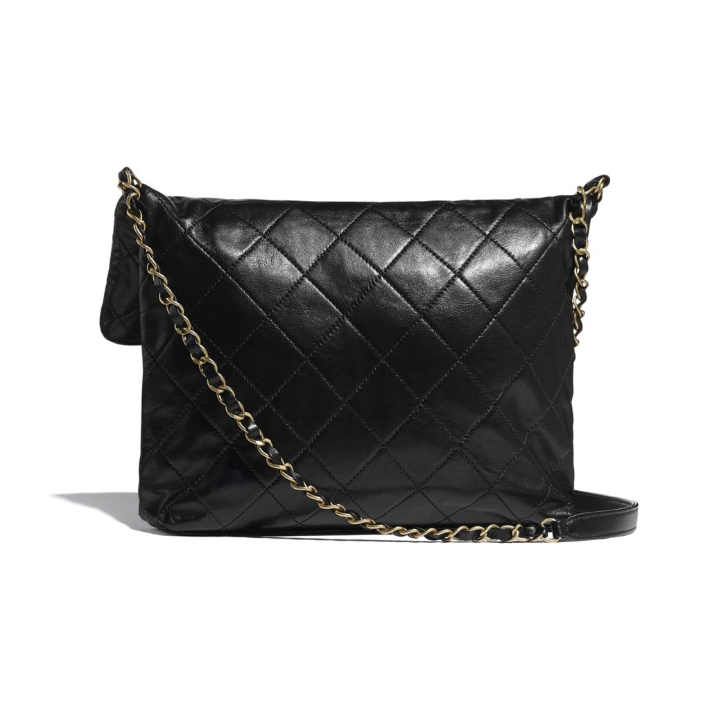 chanel calfskin shopping bag