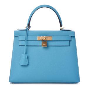 Hermès Kelly Blue du Nord