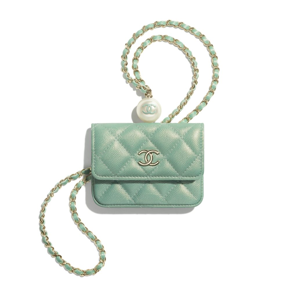 Flap Coin Purse With Chain