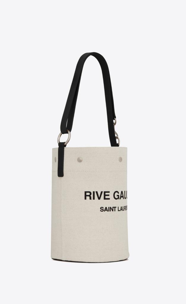 Rive Gauche Bucket Bag In Linen