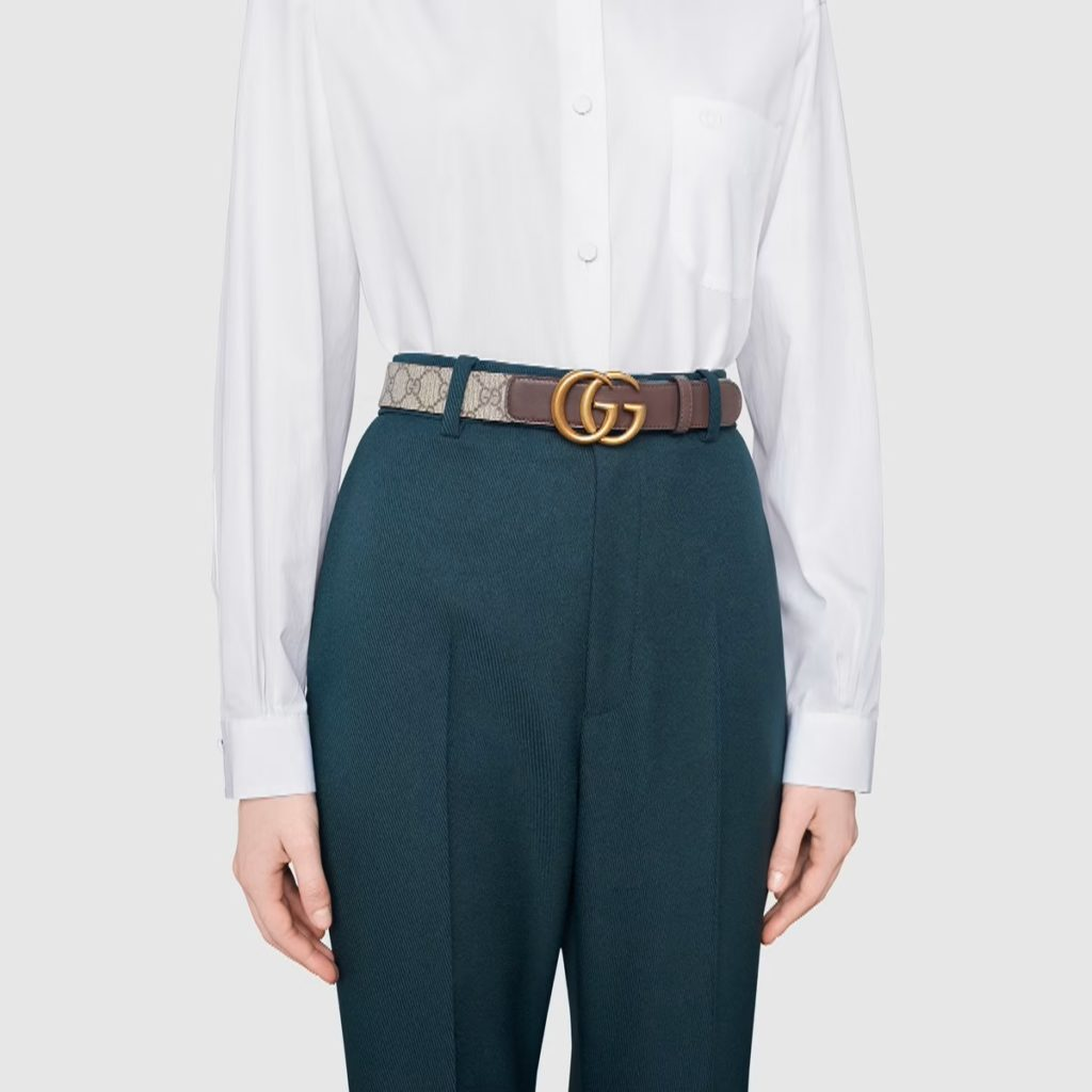 GG belt with Double G buckle